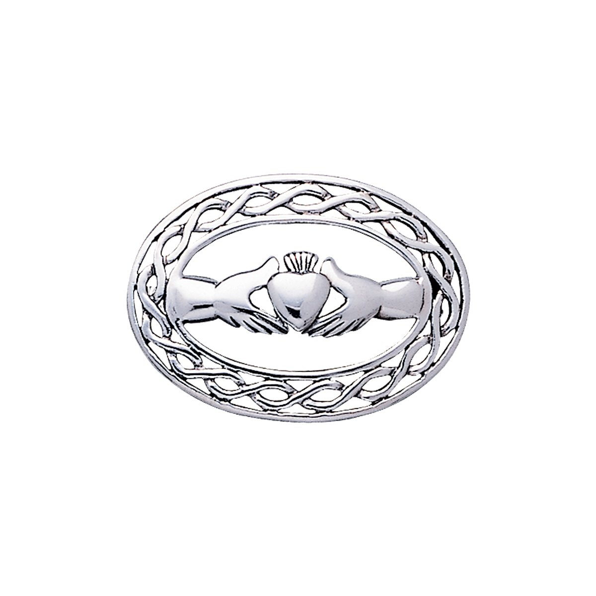 1200x1200 Jewelry Trends Sterling Silver Irish Claddagh With Celtic Knot