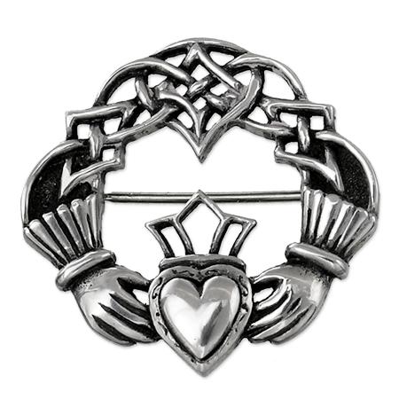 450x450 Brooch With Typical Irish Claddagh Symbol Ethnos