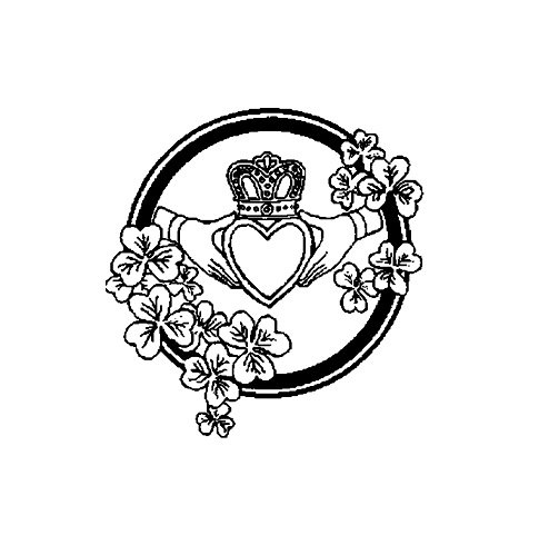 485x481 Celtic Claddagh Symbol Rubber Stamp Claddagh, Symbols And Tattoo
