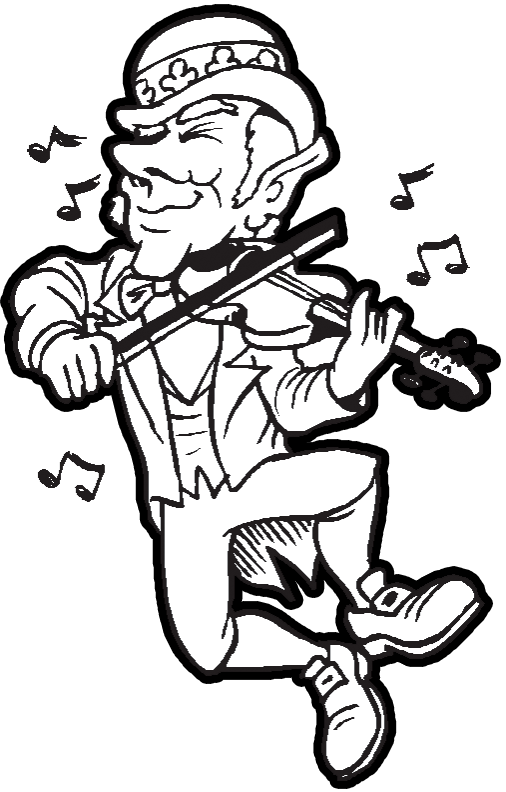 Free Printable Coloring Pages 340x270 Irish Dancing Shoes Etsy 506x792 Leprechaun Playing Music