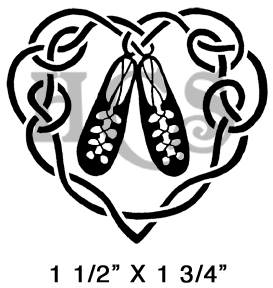 273x288 Ghillie Shoes Heart Rubber Stamp Art Image Make Forwith
