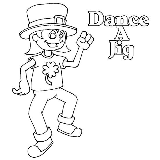 550x550 Irish Dancer Coloring Page