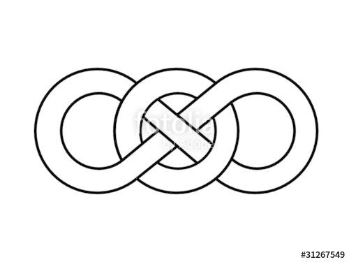 500x375 Figure Of Eight Celtic Knot (Irish Design Pattern Infinite) Stock