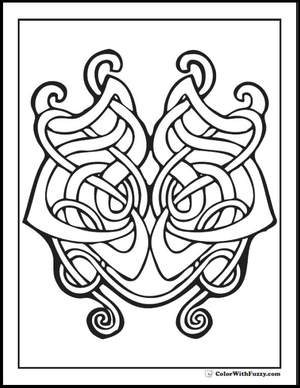590x762 90 Celtic Coloring Pages Irish, Scottish, Gaelic Celtic Knot