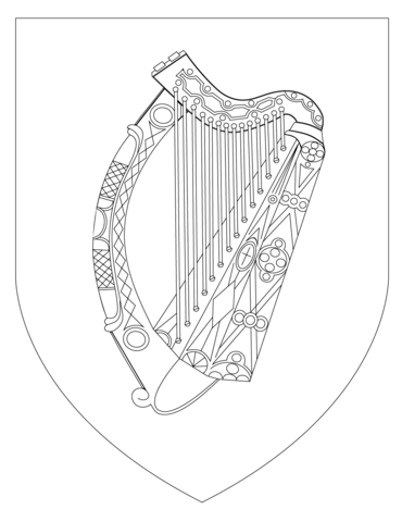 370x480 Coat Of Arms Of Ireland Coloring Page Free Printable Coloring Pages