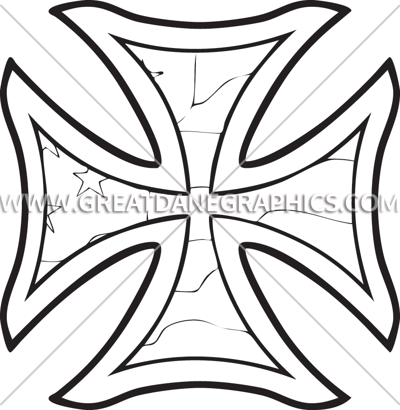 825x845 Iron Cross Production Ready Artwork For T Shirt Printing