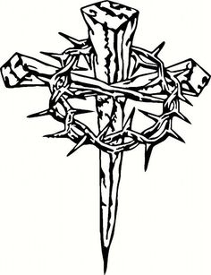 236x307 Iron Nails Cross Tattoo Design Tattoo's Cross