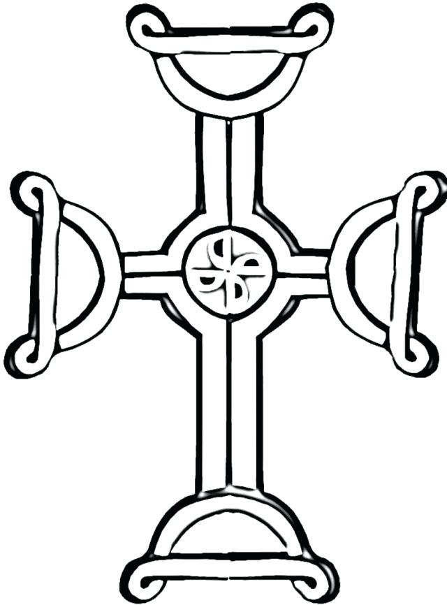 640x866 Pictures Of Crosses To Color Famous Cross Coloring Pages Iron