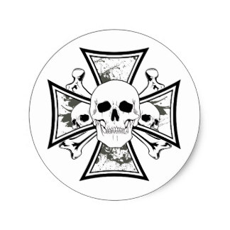 324x324 Skulls Of The Iron Cross Stickers Zazzle