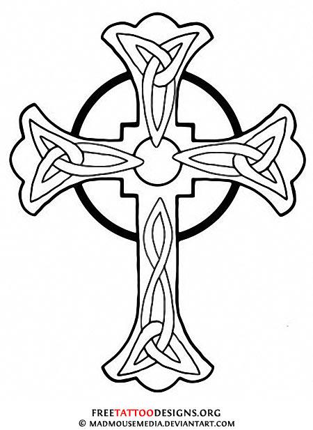 450x617 50 Cross Tattoos Tattoo Designs Of Holy Christian, Celtic