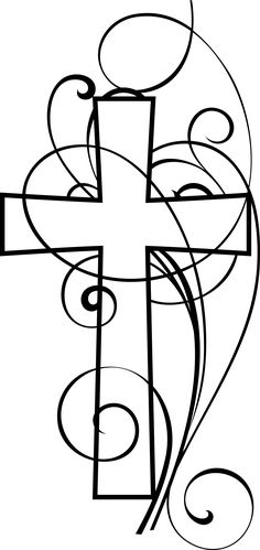 236x499 This Is An Illustration Of A Contemporary Rod Iron Cross. Henna