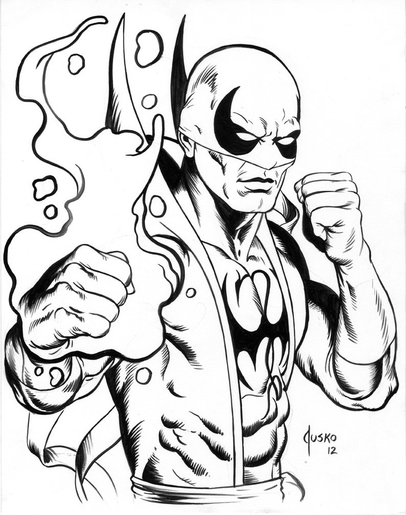 793x1007 Iron Fist Con Drawing By Joejusko