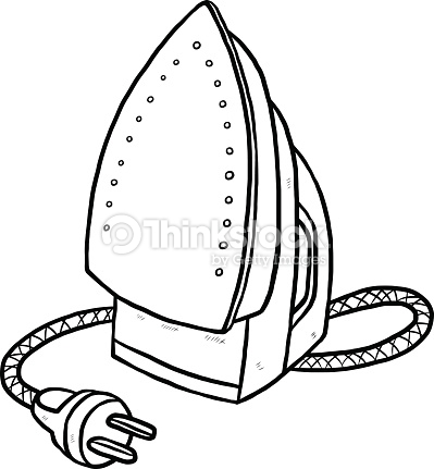 399x431 Iron Clipart Black And White