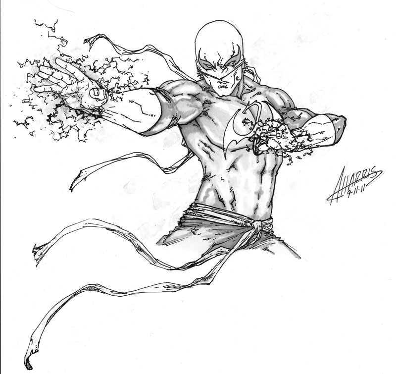800x755 Iron Fist By Anthonyharrisart