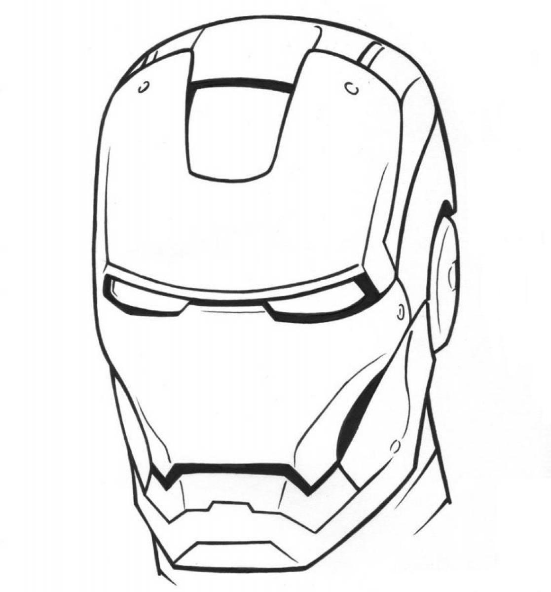 1117x1200 Iron Man Face Coloring Pages