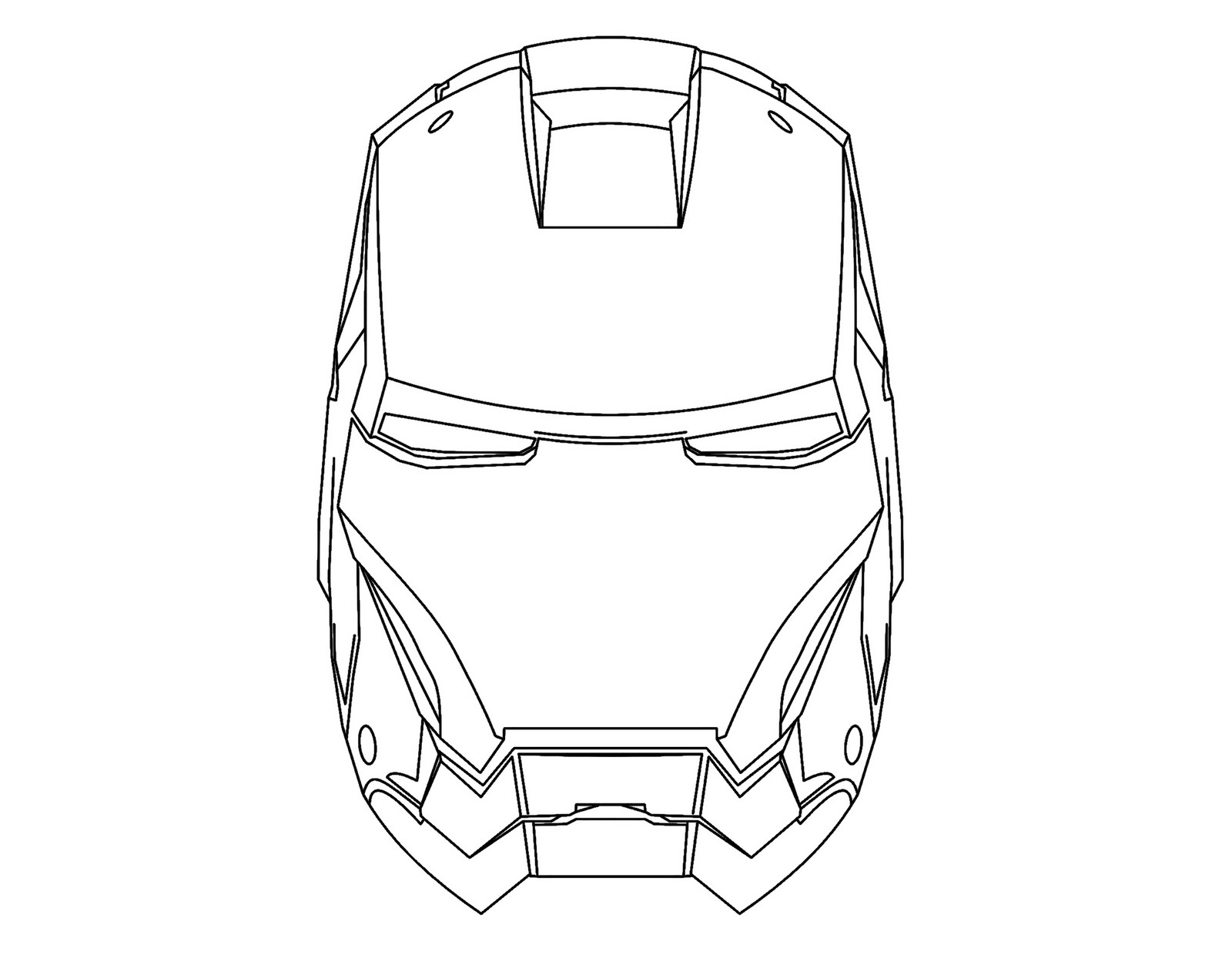 1600x1253 Drawing Iron Man Mask Coloring Color Area