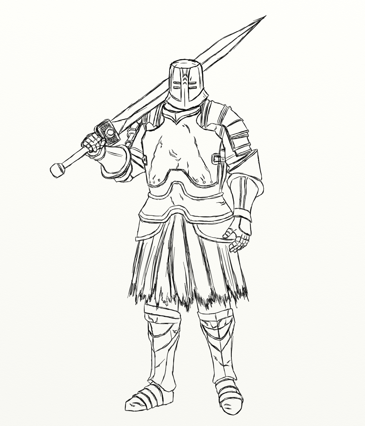 1280x1493 Reference Drawing For Black Iron Tarkus. I Fucking