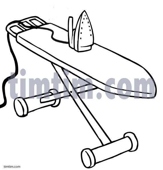 571x595 Free Drawing Of Ironing Board Bw From The Category Building Home