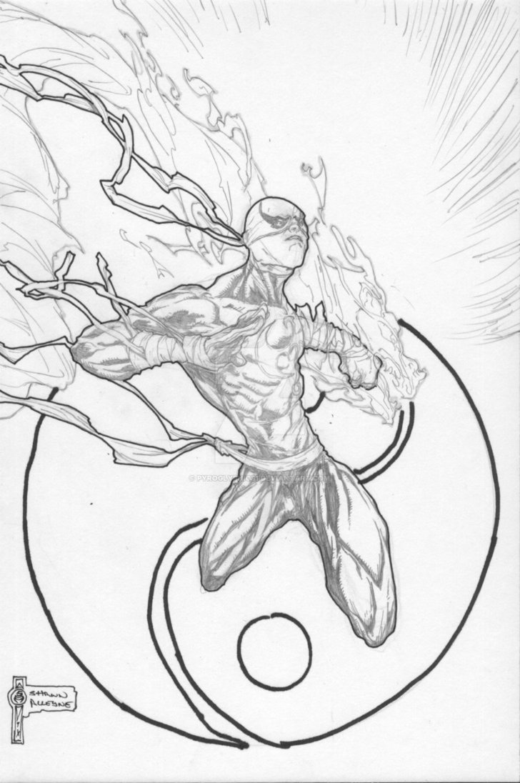 728x1096 Iron Fist Sketch Commission By Pyroglyphics1