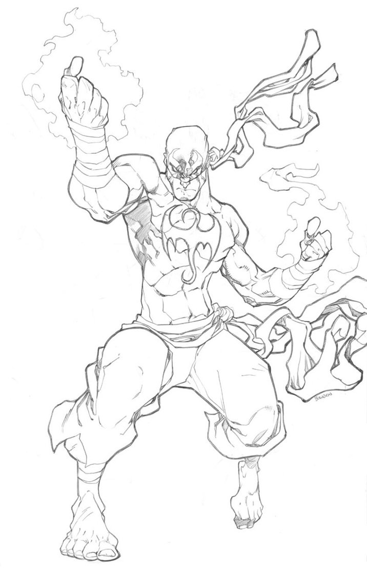 716x1116 Iron Fist By Mikebowden