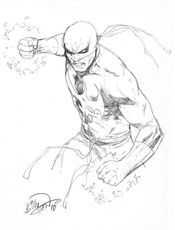 608x800 Iron Fist Con Sketch By Billy Tan, In Chris Polubinski'S