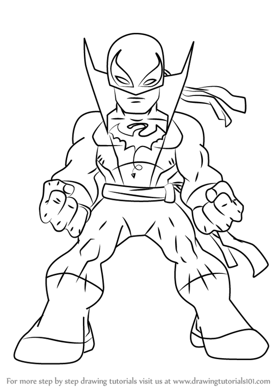 567x800 Learn How To Draw Iron Fist From The Super Hero Squad Show (The