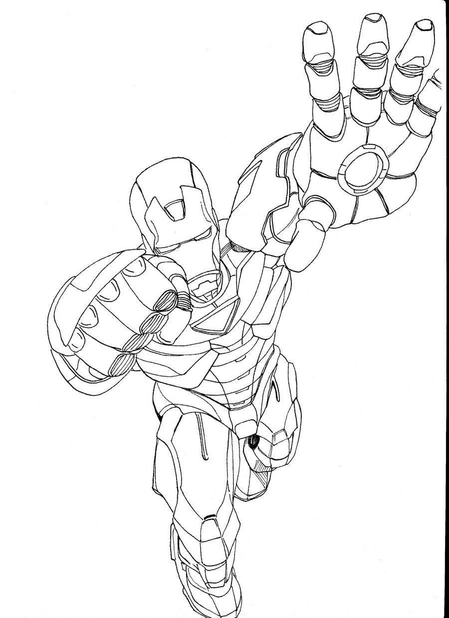 900x1238 Iron Man Ink Drawing By Markfinn