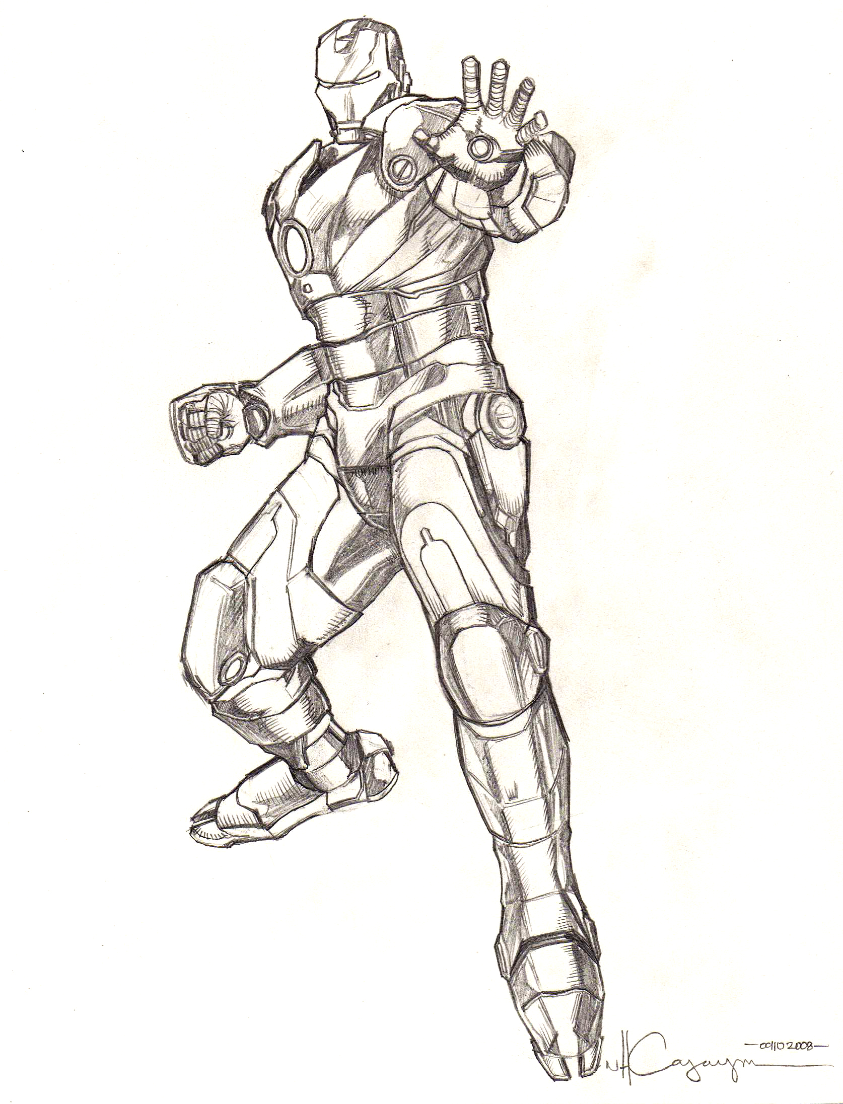 1674x2193 Iron Man Mark 3 Pencil 1 By Ncajayon