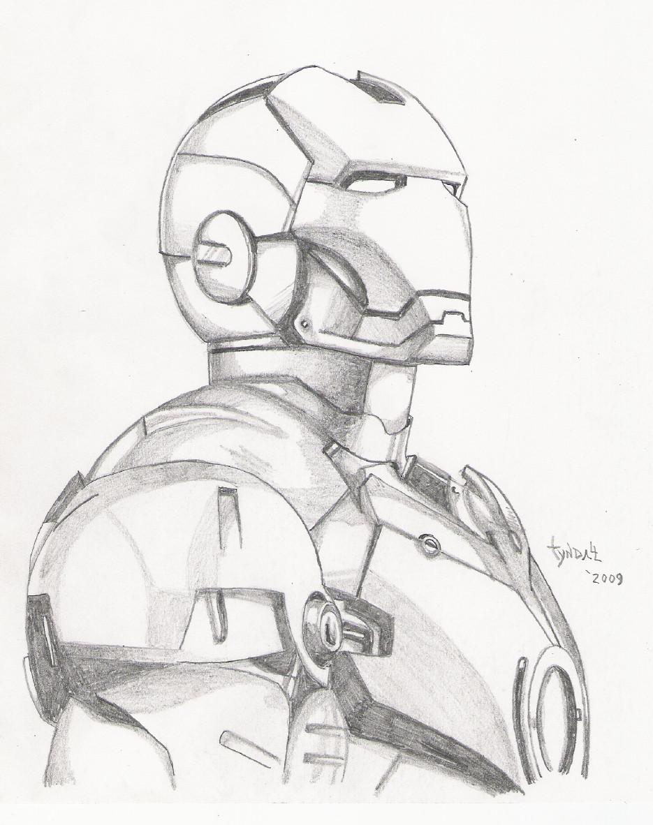 935x1182 Iron Man Sketch By Tyndallsquest