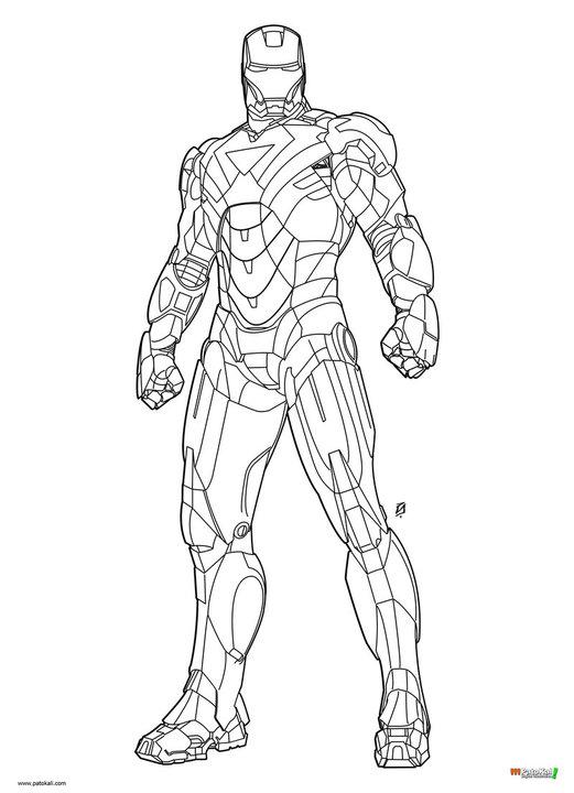 521x720 coloriages iron man 2 - Coloriage Iron Man