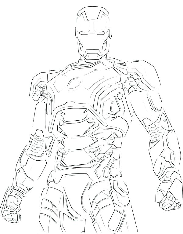 600x766 Printable Ironman Coloring Pages Iron Man 2 Coloring Pages