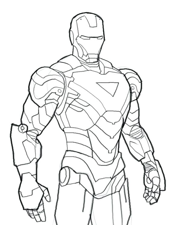 600x743 Printable Ironman Coloring Pages