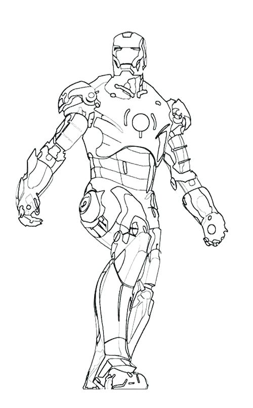 500x806 Coloring Pages Iron Man How To Draw Page