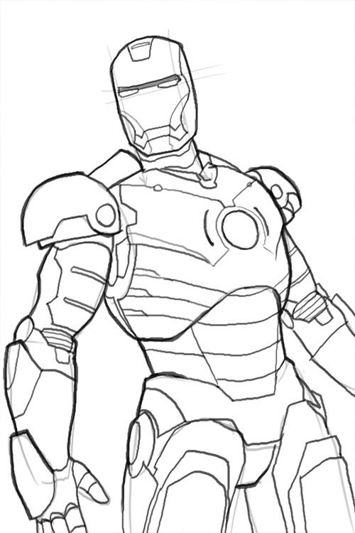500x750 How To Draw Iron Man Mk 3