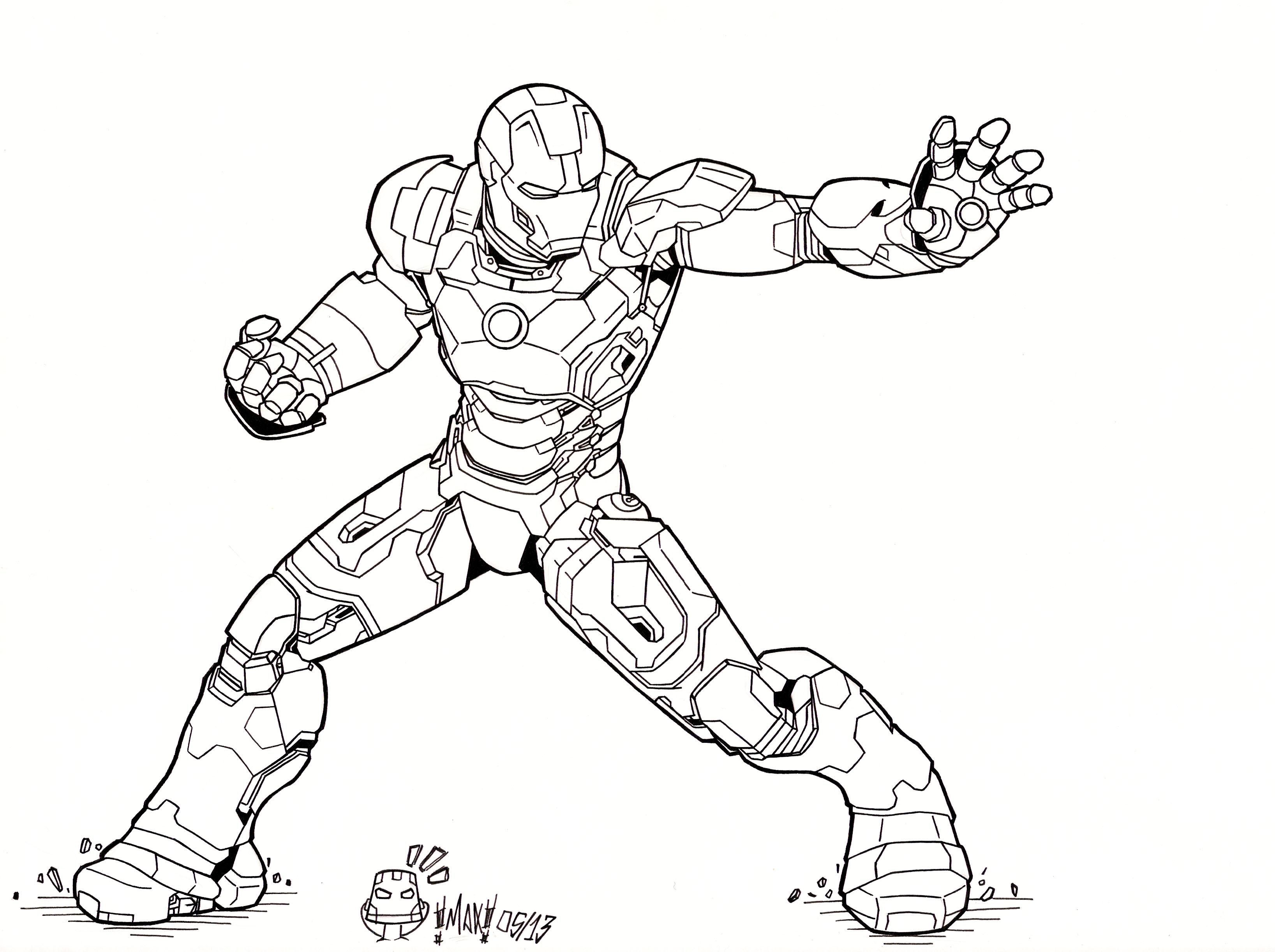Iron Man 3 Drawing at GetDrawings