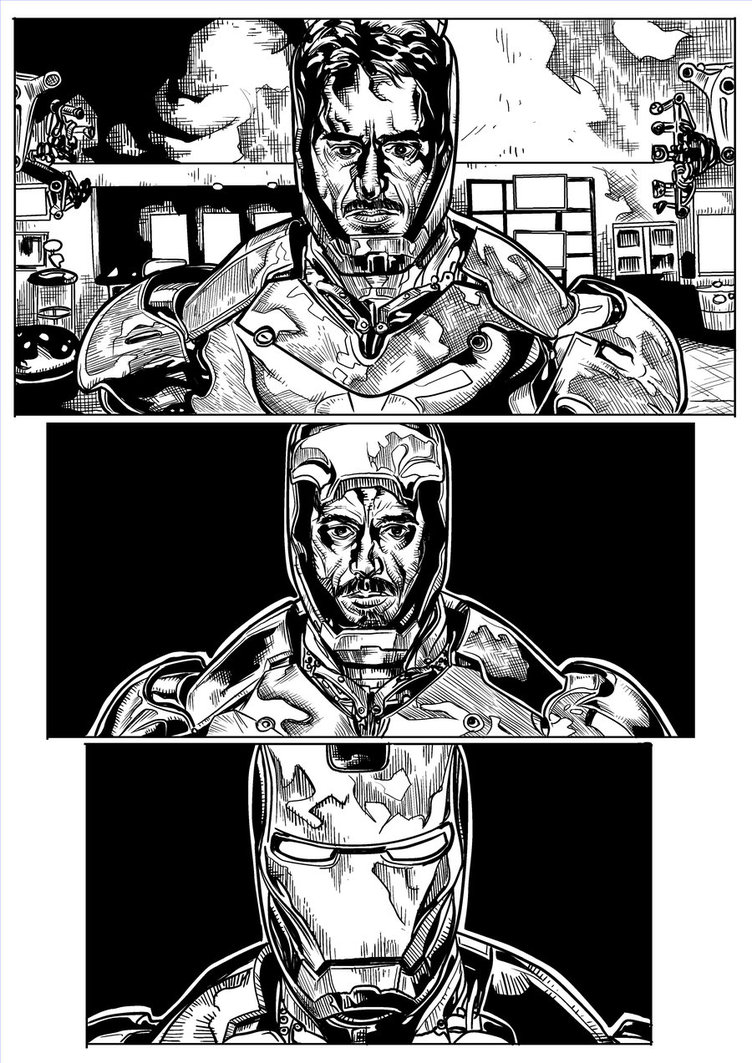 752x1063 Iron Man Mark 3 Page 2 By Ncajayon