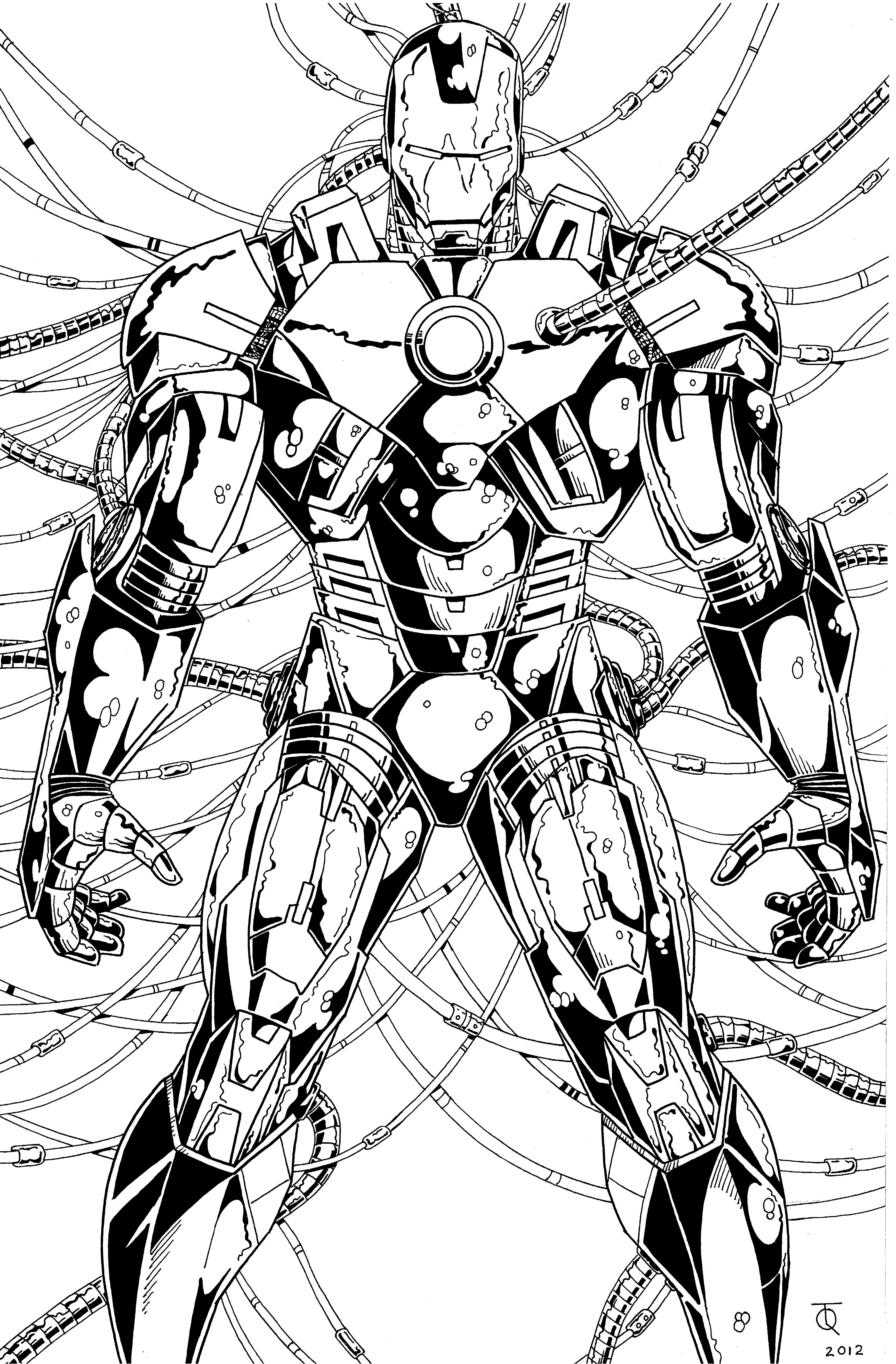 4403x6704 Iron Man Mark 7 Ink By Tyndallsquest