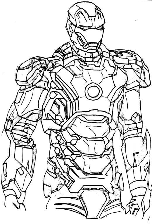 Iron Man 3 Drawing at GetDrawings.com | Free for personal use Iron ...