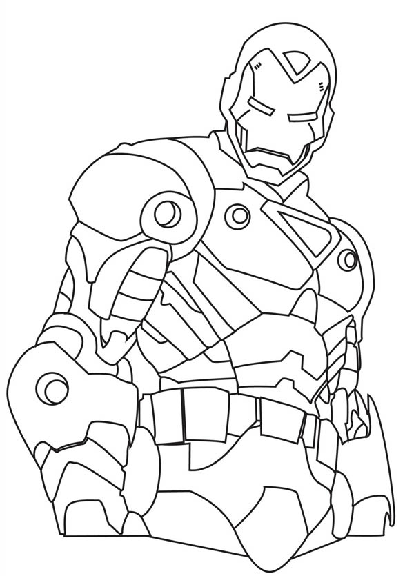 600x835 How To Draw Iron Man Coloring Page