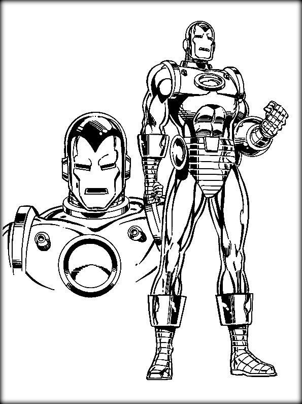 595x795 Iron Man Coloring Pages Kids Always Like To Color Marvel