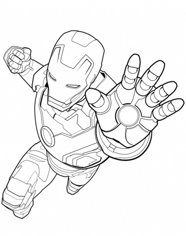 379x480 Avengers Iron Man Coloring Page Free Printable Coloring Pages