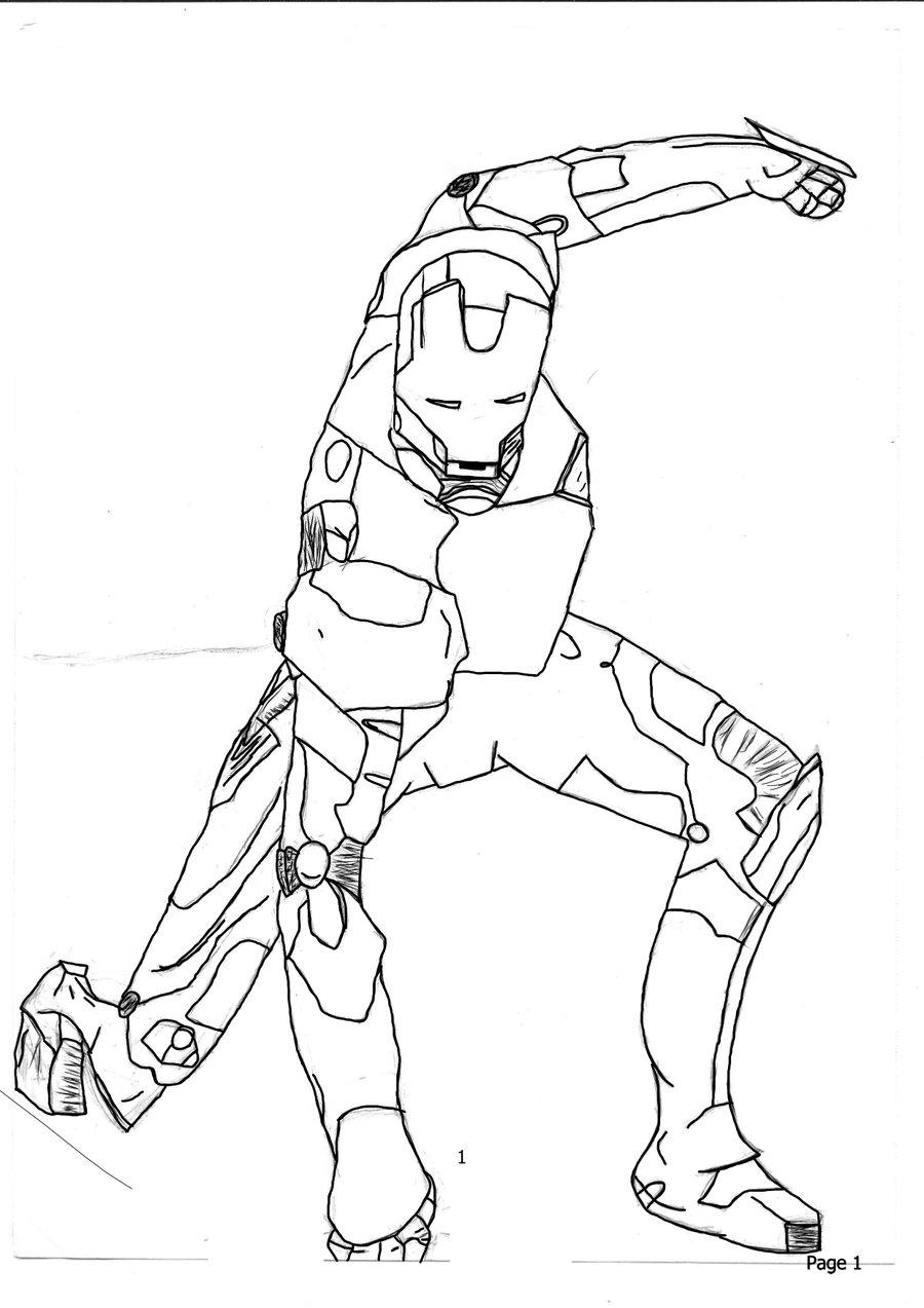 900x1273 Iron Man Inked Sketch 1 By Owlpunk