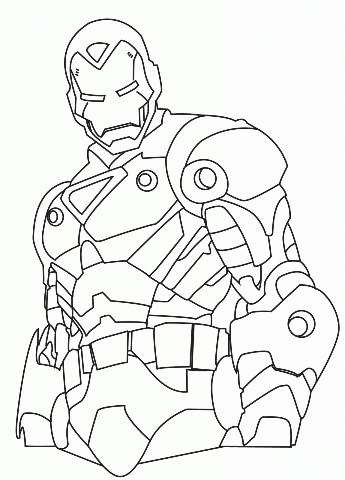 1150x1600 Iron Man Drawing Black And White Color Area