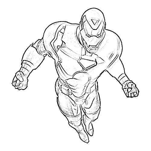 500x500 Ironman Cartoon Sketch
