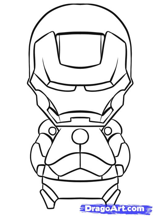 495x697 How To Draw Chibi Iron Man Step 7 Qwqqwq Chibi