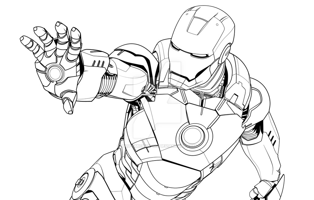 1024x654 iron man mark vii lineart by tau omicron mu on deviantart