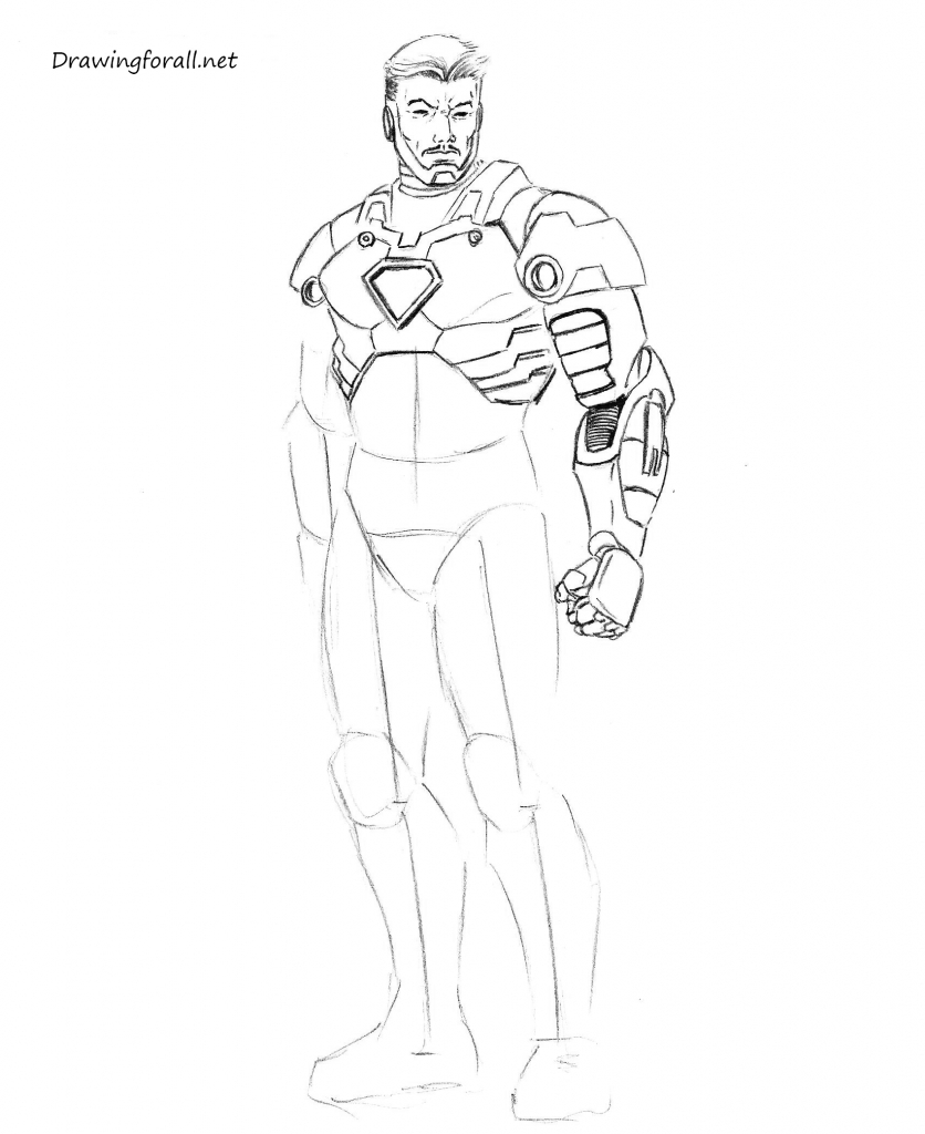 836x1024 How Do You Draw Iron Man Drawing Iron Man Easy Way Youtube
