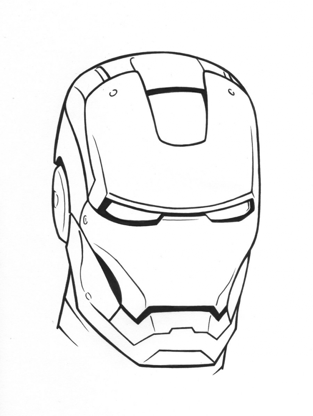 1024x1360 Iron Man Coloring Pages
