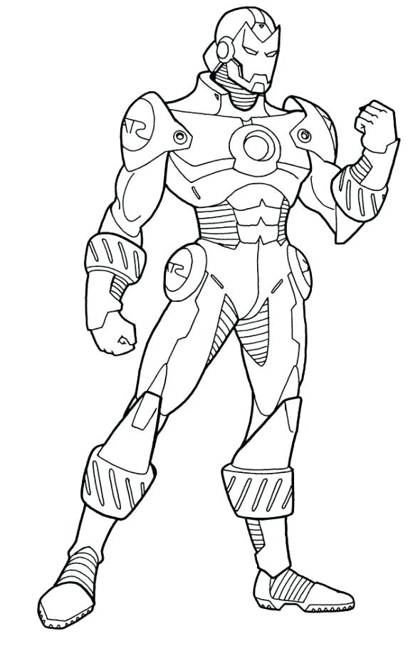 580x907 Iron Man Coloring Pages Easy Page Clip Art