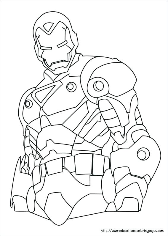 567x794 Iron Man Coloring Sheets Printables Affan